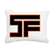SF_black02_orange_outlin Rectangular Canvas Pillow