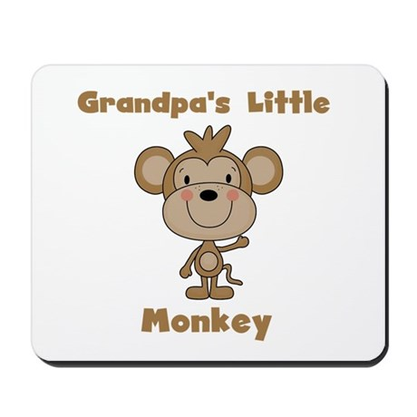 Grandpa's Little Monkey Mousepad