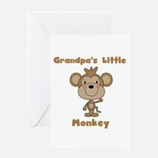 Grandpa's Little Monkey Greeting Card