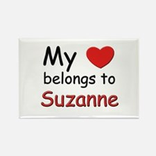 My heart belongs to suzanne Rectangle Magnet
