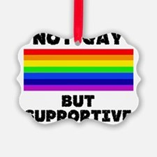 not gay Ornament