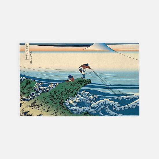 Hokusai Kajikazawa in Kai Province 3'x5' Area Rug