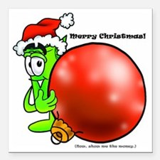"Mr Deal - Christmas - Me Square Car Magnet 3"" x 3"""