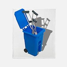 RecycledCrutches082010 Throw Blanket