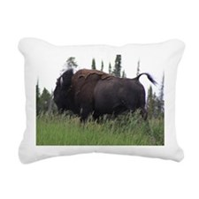 bull buffalo Rectangular Canvas Pillow