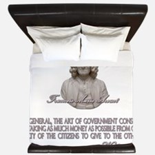 Voltaire on Art of Government King Duvet