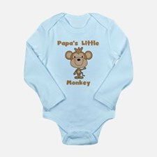 Papa's Little Monkey Long Sleeve Infant Bodysuit