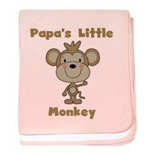 Papa's Little Monkey baby blanket