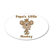Papa's Little Monkey Wall Decal