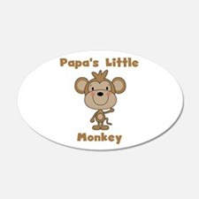 Papa's Little Monkey Wall Decal