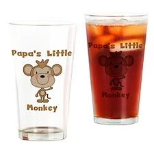 Papa's Little Monkey Drinking Glass