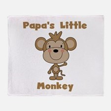 Papa's Little Monkey Throw Blanket