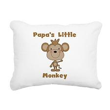 Papa's Little Monkey Rectangular Canvas Pillow