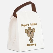 Papa's Little Monkey Canvas Lunch Bag