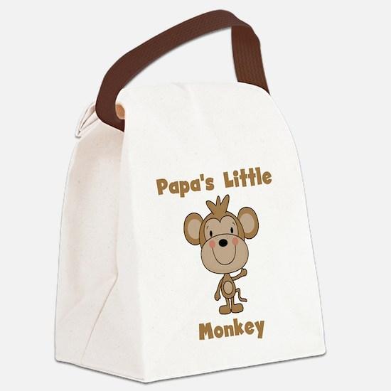 Papa's Little Monkey Canvas Lunch Bag