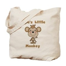 Papa's Little Monkey Tote Bag