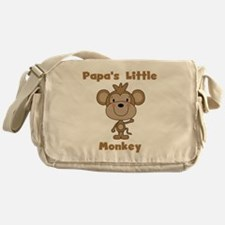 Papa's Little Monkey Messenger Bag
