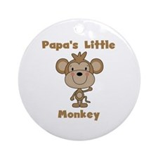 Papa's Little Monkey Ornament (Round)