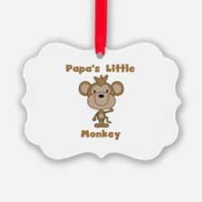 Papa's Little Monkey Ornament