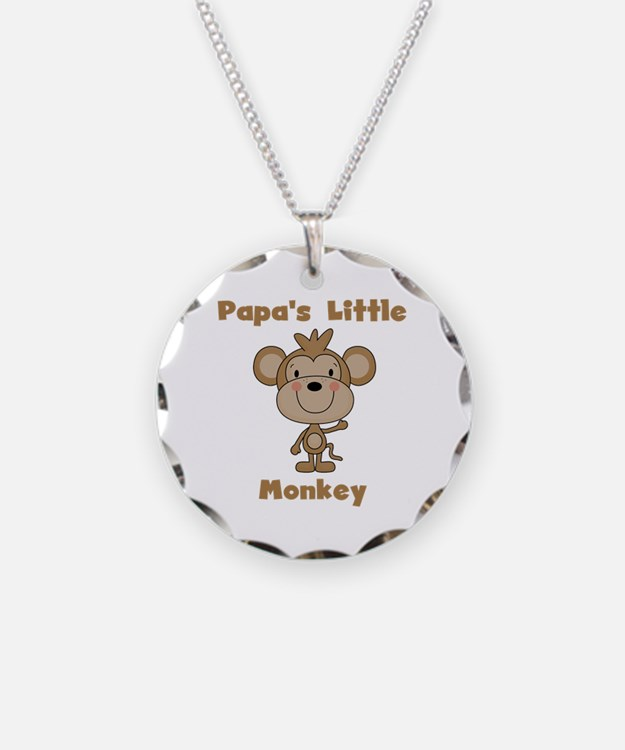 Papa's Little Monkey Necklace