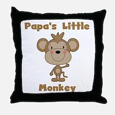 Papa's Little Monkey Throw Pillow