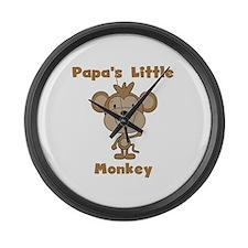 Papa's Little Monkey Large Wall Clock