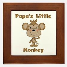 Papa's Little Monkey Framed Tile