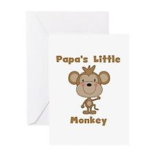Papa's Little Monkey Greeting Card