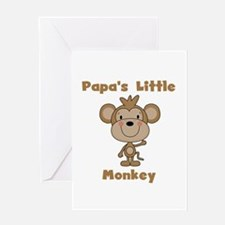 Papa's Little Monkey Greeting Card