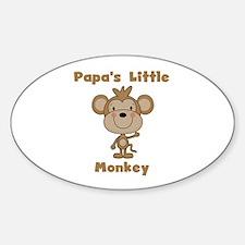 Papa's Little Monkey Sticker (Oval)