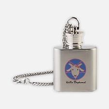 Hello Baphomet Flask Necklace