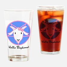 Hello Baphomet Drinking Glass