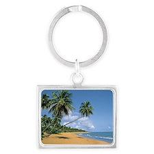 deserted-beach_puerto-rico Landscape Keychain