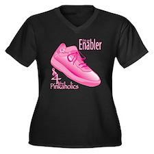 KidsPinkShoe Women's Plus Size Dark V-Neck T-Shirt