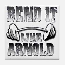 Bend it png Tile Coaster