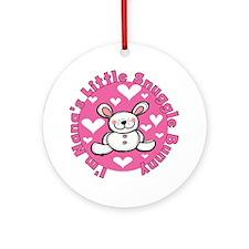 Nana's Snuggle Bunny Ornament (Round)
