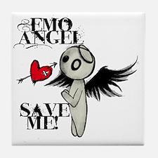 emo angel Tile Coaster