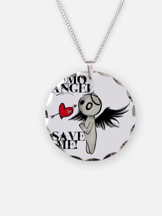 emo angel Necklace