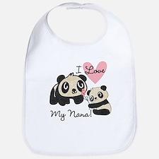 Pandas I Love Nana Bib