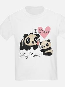 Pandas I Love Nana T-Shirt