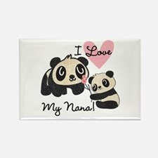 Pandas I Love Nana Rectangle Magnet