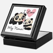 Pandas I Love Nana Keepsake Box