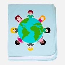 Earth Day Kids baby blanket