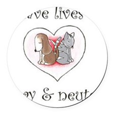save the animals Round Car Magnet