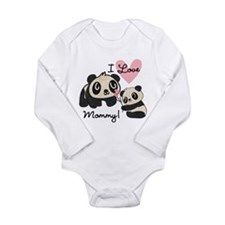 Pandas I Love Mommy Long Sleeve Infant Bodysuit
