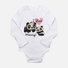 Pandas I Love Mommy Long Sleeve Infant Bodysuit