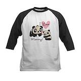 Girls panda Baseball Jersey