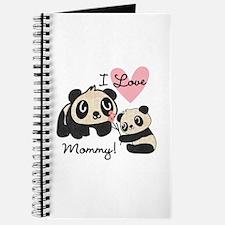 Pandas I Love Mommy Journal