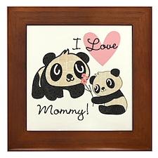 Pandas I Love Mommy Framed Tile