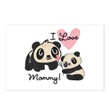 Pandas I Love Mommy Postcards (Package of 8)